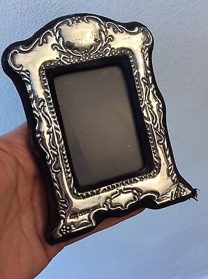 vintage London hallmarked(KF ltd)1985 silver decorative small frame