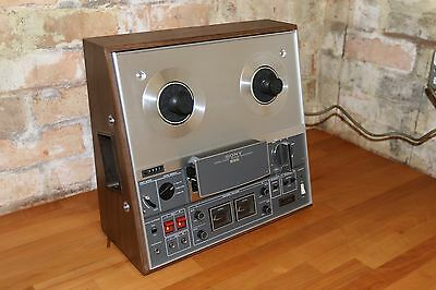 "Compactvintage Sony TC-366 reel to reel tape recorder 7""  4-track 3 speed"