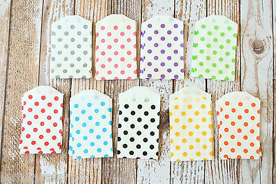 Small POLKA DOT Paper Bags mini party favour sweet treat Dotty Itty Bitty Bags