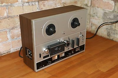 "Compact vintage AKAI 4000D reel to reel tape recorder 7""  4-track 2 speed"