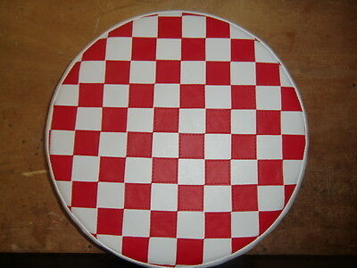Red & White Check Scooter Wheel Cover