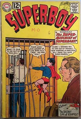 Superboy #97 (DC 1962 1st Series) 53 year old vintage comic. VG/FN condition.