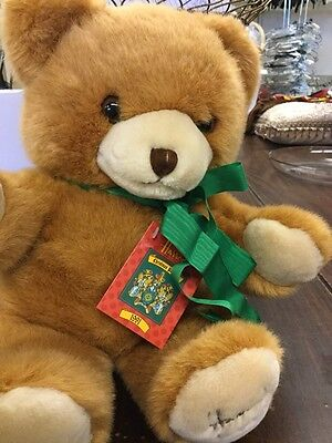 Vintage Harrods 1991 Foot Dated Cuddley Brown & Tan Bear  24th Birthday Animal
