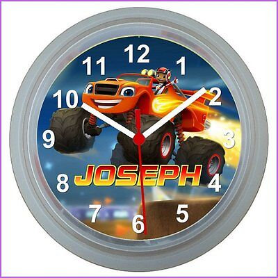 Personalised BLAZE AND THE MONSTER MACHINES WALL CLOCK
