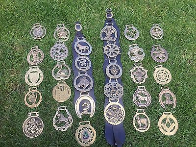 A Collection Of Vintage Horse  Brasses  Job lot