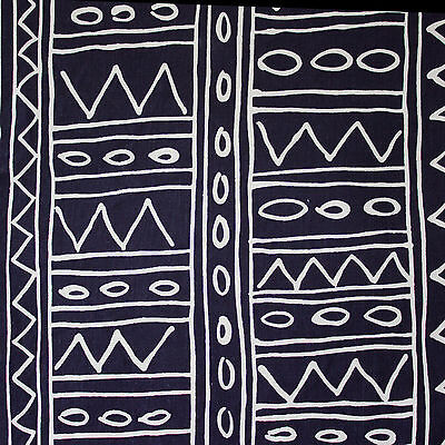 vintage 1980s Habitat 'Nubia' tribal geomtric print cotton fabric