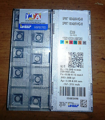 New Iscar SPMT 100408R-HQ-M IC328 Factory Pack of 10 Inserts