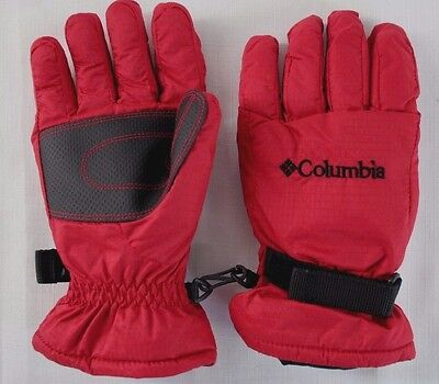 COLUMBIA Youth Winter Red & Black Snowboard Ski Gloves Size L Youth