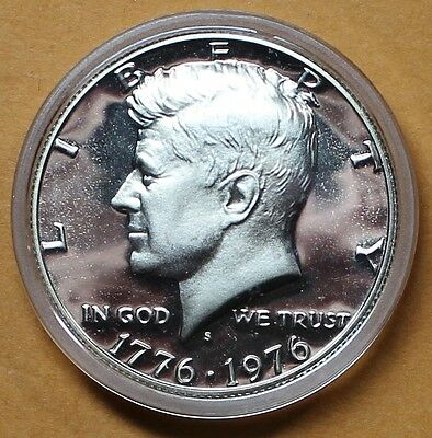 1776 1976-S 50C Kennedy Half Dollar Silver In Mint Capsule, Deep Cameo Proof  LZ