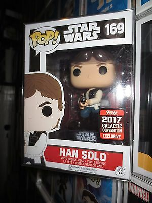 FUNKO POP! Star Wars Celebration 2017 Han Solo Excl w protector