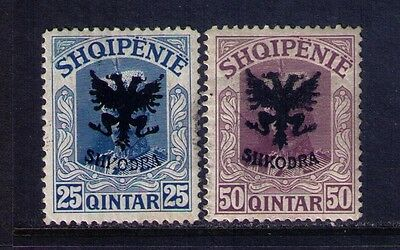 Albania Stamps,1920 Ovpt SC#123-4 MH Cat.$585