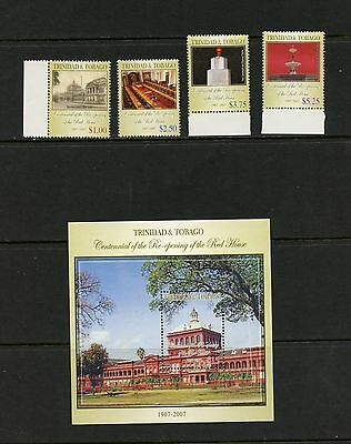 Trinidad & Tobago 2007  #809-13  reopening of the Red House  MNH  K195