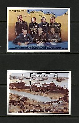 Turks & Caicos 1994  #1108-9  WWII  D-Day  sheets  MNH  K199