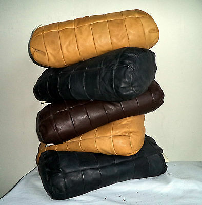 LOT De Sede Leather Cushions Bolsters black mustard brown Mid Century Sofa Chair