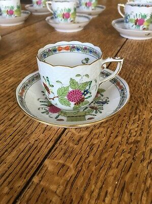 Herend China Indian Basket Demitasse Teacup And Saucer SOLD INDIVIDUALLY