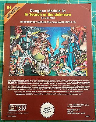 D&d In Search Of The Unknown B1 Module 9023 Tsr  Brown Cover Dungeons & Dragons