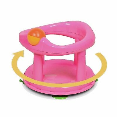 Safety 1st BABY BATH SEAT Swivel Rotating Backrest Supporting Bathing Chair Pink