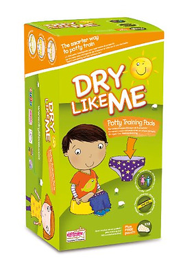 Dry Like Me Toilet Training Pads Car School Plane 18 x 4 pack Total 72 Pads
