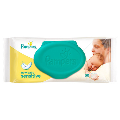 Pampers New Baby Sensitive Wipes - 50 x Pack of 12