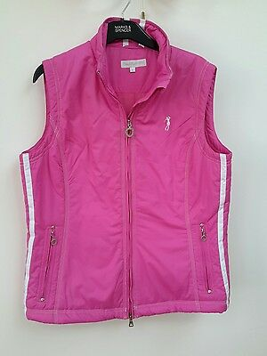Daily Sports Ladies Golf Waistcoat / Bodywarmer - UK Size L - Pink - Brand New