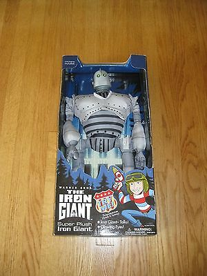 "21"" Talking Iron Giant Plush Toy Mint With Box By Warner Bros Trendmasters 1999"