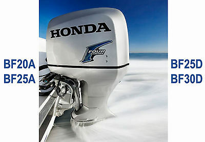 Honda Marine Outboard Workshop Service Repair Manual Bf20A, Bf25A, Bf25D & Bf30D