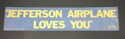 Original JEFFERSON AIRPLANE LOVES YOU Concert Bumper Sticker Grunt Records