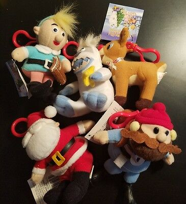 Rudolph the red nosed reindeer and  island of misfit toys keychain lot