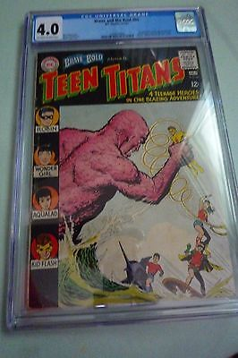 Teen Titans Brave And The Bold Presents #60 Cgc Graded 4.0 Dc 1965