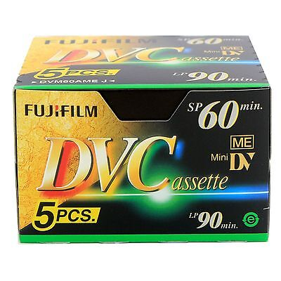 FUJI Mini DV 5 Pack Digital Video Tape 60min  Camera Cassette Recorders New