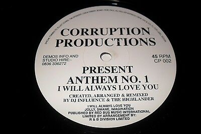 Anthem No.1-I Will Always Love You,1994,hardcore/jungle Rave Vinyl,