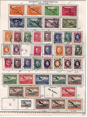 Albania Stamps 1925-36 SC#178//260;C1//32;J31//34 on Album page MH/Used Cat.$100