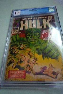 The Incredbile Hulk 102 Cgc Graded 1.8 Marvel Comics 1968