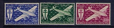Western Africa/Sahara Airmail Stamps Sc# C1-3 MH