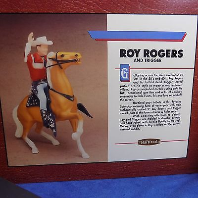 Vintage Hartland Roy Rogers And Trigger Horse & Rider Series - Mint In Box