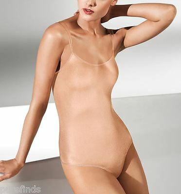 WOLFORD NEON STRING BODY 78263, BODYSUIT, SMALL, in bellini (4742), New in box