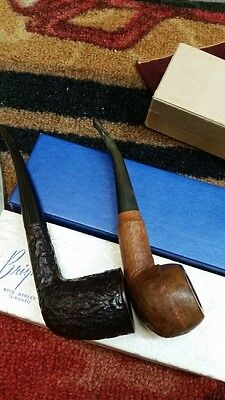 Brigham Pipes Lot of 2 Estate Pipes With Original Boxes and Socks & 3 Cleaner