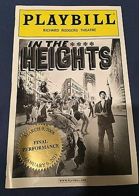 In The Heights CLOSING NIGHT Playbill