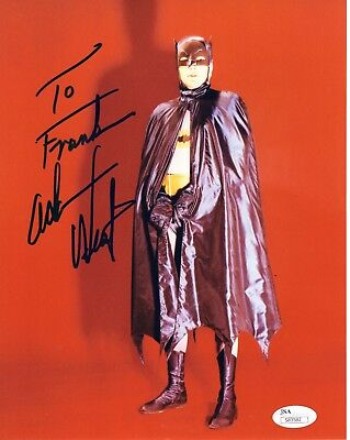 ADAM WEST AUTHENTIC SIGNED 8x10 PHOTO          BATMAN         SIGNED TO FRANK