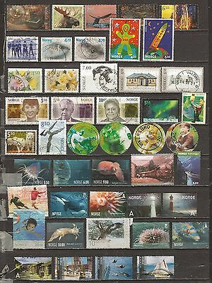 Norway, 45 different 2000s commemoratives used