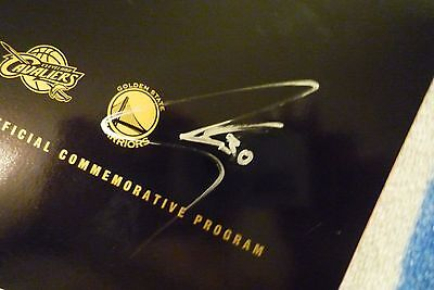 Warriors Signed Stephen Curry Andre Iguodala Nba Finals Program 2015