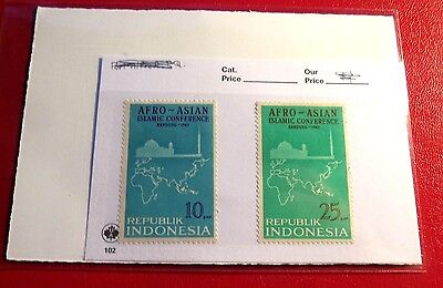 Indonesia 1965 Islamic Conference 2 Mint Stamps NH ST80