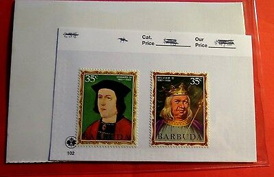 Barbuda Kings & Queens of England Series #2 & #16  Mint NH Stamps  ST51