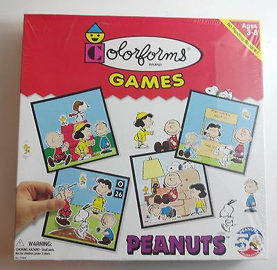 SNOOPY Peanuts Charlie Brown COLORFORMS GAME Sealed NEW in BOX RARE