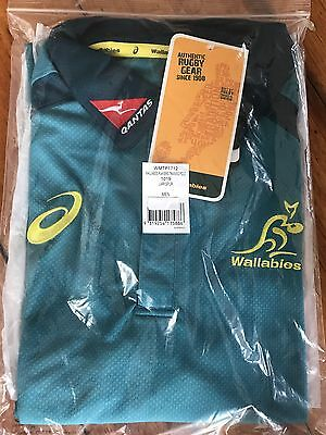Wallabies 2017 Players Training Polo Large 1019 Larkspur Brand New With Tags