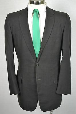(40R) Vintage 1961 Men's Solid Brown Classic Wool Pleated Front 2 Piece Suit