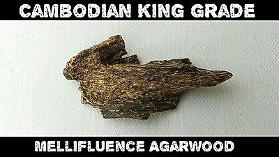 Cambodi King Grade Agarwood - Fruity Lemon Scent - Aloes Wood / Oud - 2.5g