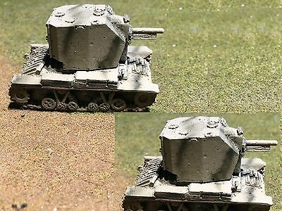1/100th (15mm) WWII British Painted Valentine Bishop 25pdr Set of 2