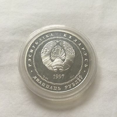 Republic Of Belarus 1997 20 Rubles Russia Community Silver Proof