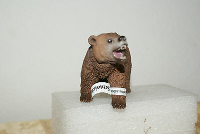 Male Grizzly Bear in Walking Position by Schleich Figure with Tag 2012